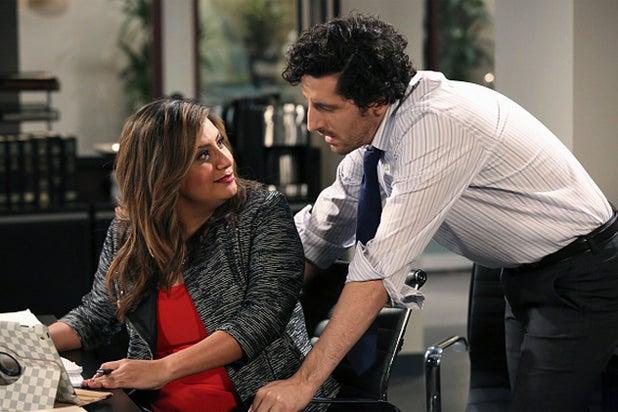 "Cristela Alonzo and Adam Shapiro in ""Cristela"" (ABC)"