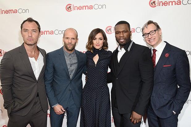 Rose Byrne, Jason Stratham, 50 Cent at CinemaCon 2015