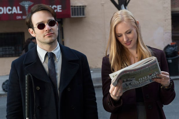 Charlie Cox is Daredevil in Netflix series; Deborah Ann Woll also appears (Netflix)