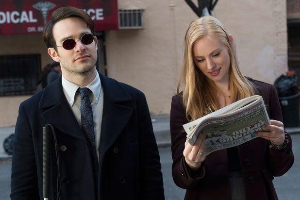 Charlie Cox is Daredevil in Netflix series; Deborah Ann Woll also appears (Netflix)