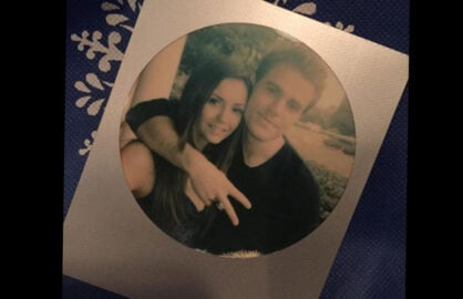 """The Vampire Diaries"" Nina Dobrev with costar Paul Wesley (Twitter)"