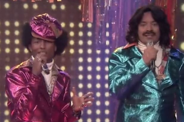 jimmy fallon pharrell williams are awfully demanding 80s