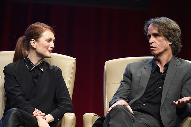 Julianne Moore and Jay Roach at CinemaCon 2015 luncheon