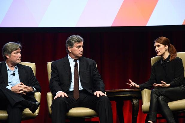 Julianne Moore, Tim Bernard at CinemaCon 2015 luncheon