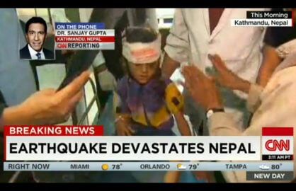 Dr. Sanjay Gupta reports from Nepal following earthquake (CNN)