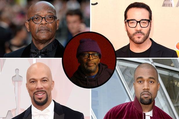 Samuel L. Jackson, Jeremy Piven, Kanye West, Common, Spike Lee (Getty/Patrick Fraser)