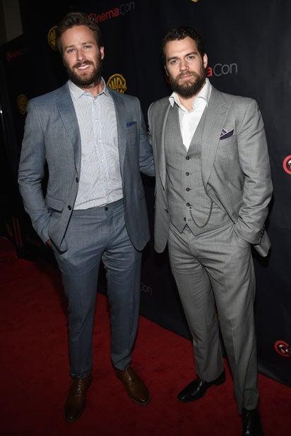 Warner Bros. CinemaCon 2015: Actors Armie Hammer from 'Entourage' and Henry Cavill of 'Batman v Superman' (Michael Buckner/Getty Images for CinemaCon)