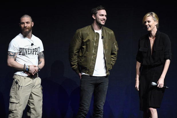 Warner Bros. CinemaCon 2015: 'Mad Max: Fury Road' actors Tom Hardy, Nicholas Hoult and Charlize Theron (Michael Buckner/Getty Images for CinemaCon)