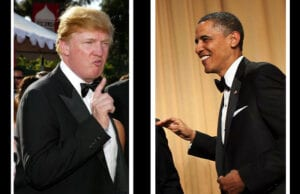 Donald Trump and President Barack Obama (Kevin Winter/Getty Images; Brendan Smialowski/whca.net)