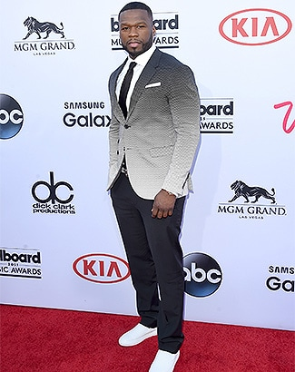 LAS VEGAS, NV - MAY 17: Rapper 50 Cent attends the 2015 Billboard Music Awards at MGM Grand Garden Arena on May 17, 2015 in Las Vegas, Nevada. (Photo by Jason Merritt/Getty Images)(Photo by Jason Merritt/Getty Images)