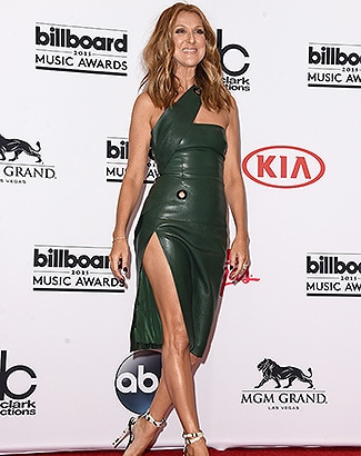 LAS VEGAS, NV - MAY 17: Singer Celine Dion poses in the press room during the 2015 Billboard Music Awards at MGM Grand Garden Arena on May 17, 2015 in Las Vegas, Nevada. (Photo by Jason Merritt/Getty Images)