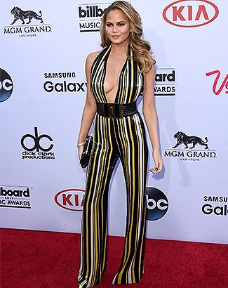 LAS VEGAS, NV - MAY 17: Host Chrissy Teigen attends the 2015 Billboard Music Awards at MGM Grand Garden Arena on May 17, 2015 in Las Vegas, Nevada. (Photo by Jason Merritt/Getty Images)