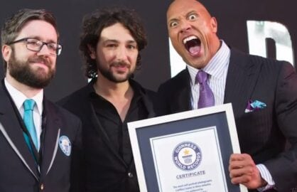 Dwayne Johnson Guinness World Record