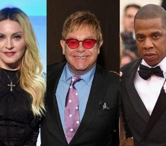 Richest Music Artists Madonna, Elton John, Jay Z
