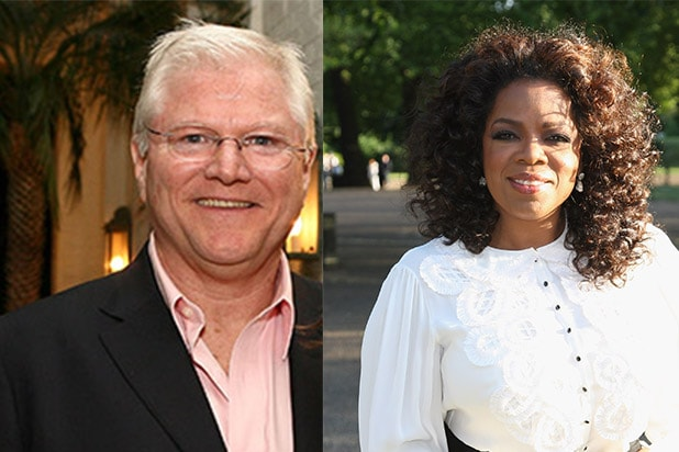 Hollywood producer Michael King and Oprah Winfrey