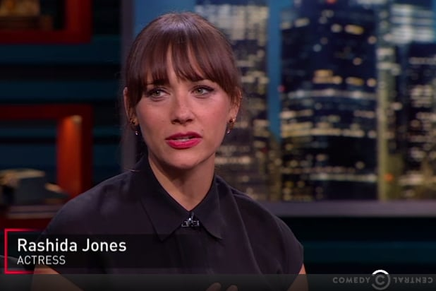 Rashida Jones took a strong stance Tuesday evening on Comedy Central ...