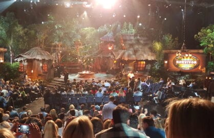 "The scene inside the ""Survivor: Worlds Apart"" live finale and ""Survivor Second Chance"" vote-on reveal. (Mikey Glazer)"