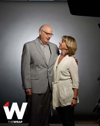 Jeffrey Tambor and TheWrap Editor-in-Chief Sharon Waxman (Corina Marie Howell)