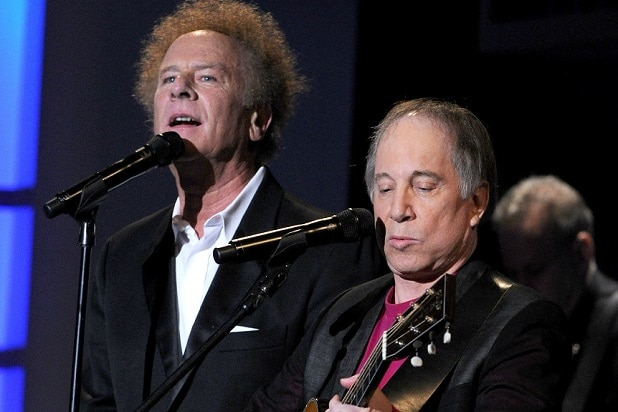CULVER CITY, CA - JUNE 10: Musicians Art Garfunkel and Paul Simon of Simon & Garfunkel perform during the 38th AFI Life Achievement Award honoring Mike Nichols held at Sony Pictures Studios on June 10, 2010 in Culver City, California. The AFI Life Achievement Award tribute to Mike Nichols will premiere on TV Land on