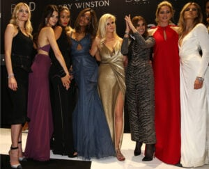 Lily Donaldson, Kendall Jenner, Joan Smalls, Jourdan Dunn, Lara Stone, Carine Roitfeld, Doutzen Kroes and Maryna Linchuk (Andreas Rentz/Getty Images)