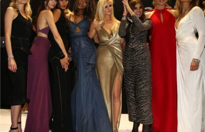 Lily Donaldson, Kendall Jenner, Joan Smalls, Jourdan Dunn, Lara Stone, Carine Roitfeld, Doutzen Kroes and Maryna Linchuk (Andreas Rentz/Getty Images)