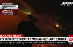 CNN coverage of Garland, Texas police shooting
