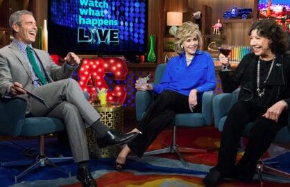 """Watch What Happens Live"" Andy Cohen, Jane Fonda, Lily Tomlin (Bravo)"