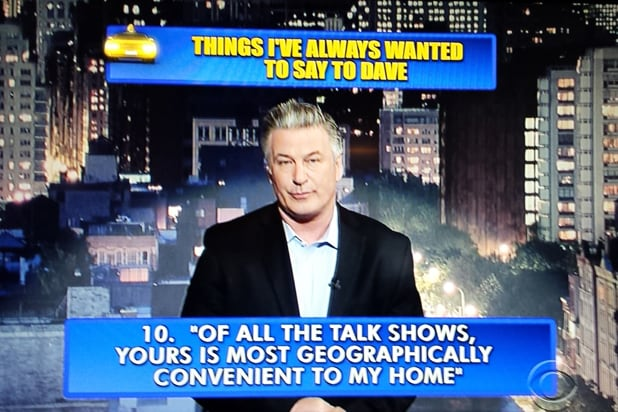 David Letterman final late show Top 10: Alec Baldwin No. 10 (CBS)