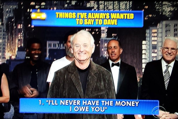 David Letterman final late show Top 10: Bill Murray No. 1 (CBS)
