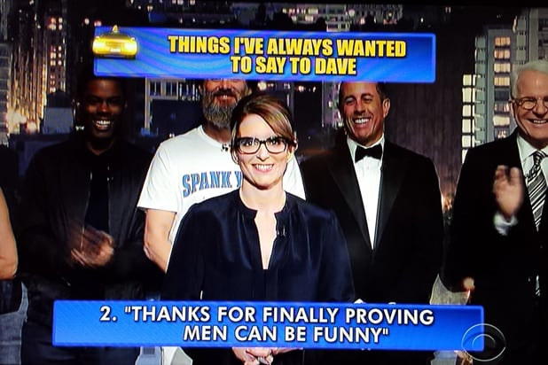 David Letterman final late show Top 10: Tina Fey No. 2 (CBS)