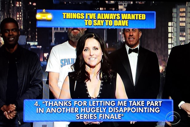 David Letterman final late show Top 10: Julia Louis-Dreyfus No. 4 (CBS)