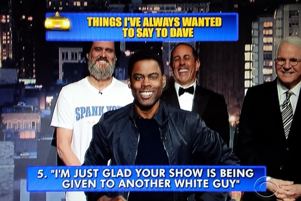 David Letterman final late show Top 10: Chris Rock No. 5 (CBS)
