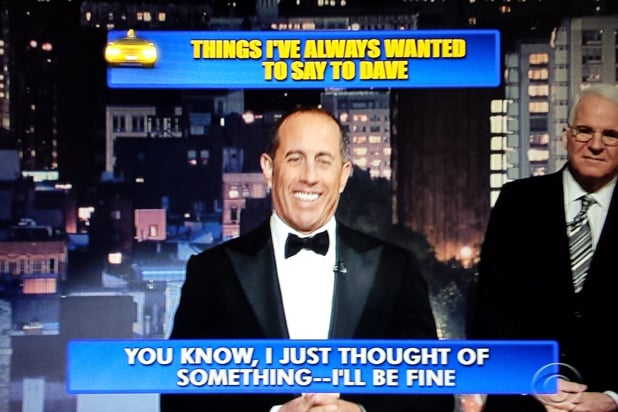 David Letterman final late show Top 10: Jerry Seinfeld No. 7 (CBS)