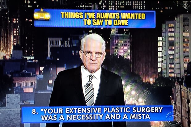 David Letterman final late show Top 10: Steve Martin No. 8 (CBS)