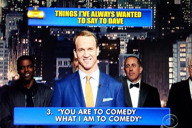 David Letterman final late show Top 10 Peyton Manning No. 3 (CBS)