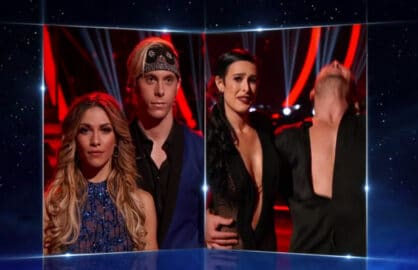 """Dancing With the Stars"" contestants Allison Holker, Riker Lynch, Rumer Willis and Val Chmerkovskiy (ABC)"