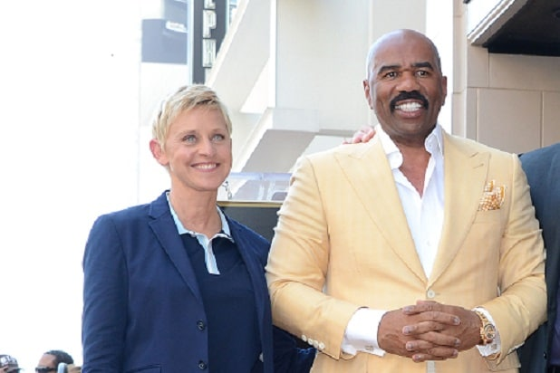 tv host Steve Harvey Honored On The Hollywood Walk Of Fame