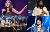 "Previous ""American Idol"" contestants Kelly Clarkson; Jennifer Hudson; Adam Lambert; judges Randy Jackson, Paula Abdul, Simon Cowell"