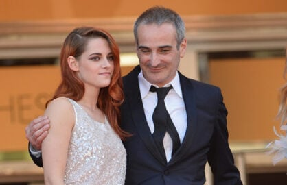 Kristen Stewart and director Olivier Assayas (Michael Buckner/Getty Images)