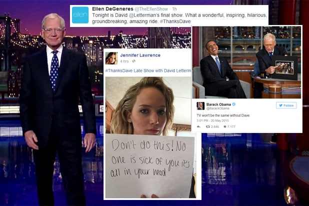 Final Late Show with David Letterman social media reactions