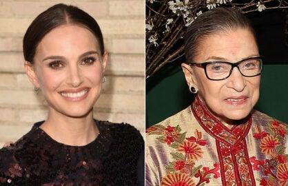 Natalie Portman, Ruth Bader Ginsberg (Getty Images)