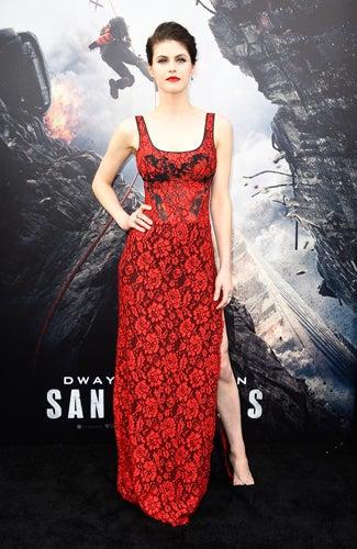 San Andreas premiere Alexandra Daddario (Frazer Harrison/Getty Images)
