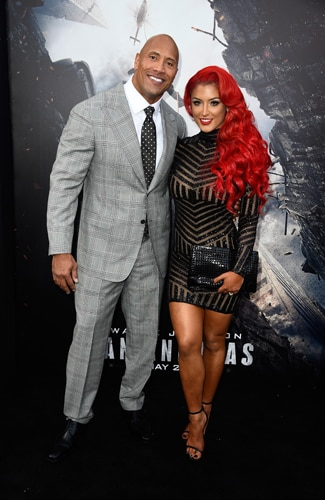 San Andreas premiere Dwayne 'The Rock' Johnson and Eva Marie (Frazer Harrison/Getty Images)