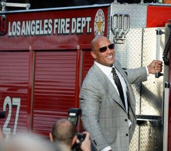 San Andreas premiere Dwayne 'The Rock' Johnson (Frazer Harrison/Getty Images)