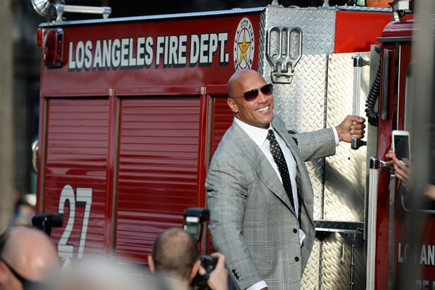 San Andreas premiere Dwayne 'The Rock' Johnson (Frazer Harrison/Getty Images)
