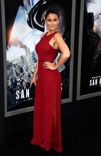 San Andreas premiere Emmanuelle Chriqui (Frazer Harrison/Getty Images)