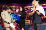 """""""Watch What Happens Live"""" Andy Cohen, Vanessa Hudgens, Kellan Lutz"""