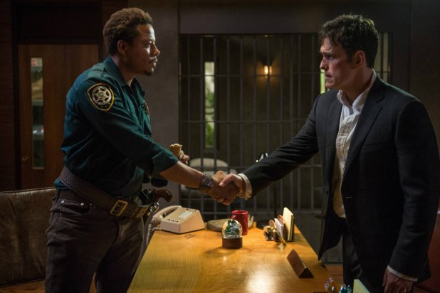 "Terrence Howard and Matt Dillon on ""Wayward Pines"""