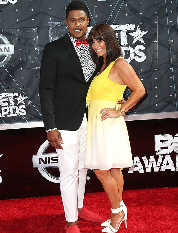 LOS ANGELES, CA - JUNE 28: Actor Pooch Hall (L) and Lisa Hall attend the 2015 BET Awards at the Microsoft Theater on June 28, 2015 in Los Angeles, California. (Photo by Frederick M. Brown/Getty Images for BET)