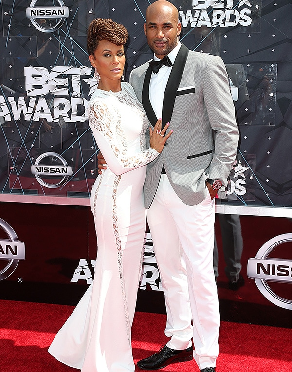 Actors Nicole Ari Parker (L) and Boris Kodjoe attend the 2015 BET Awards at the Microsoft Theater on June 28, 2015 in Los Angeles, California. (Photo by Frederick M. Brown/Getty Images for BET)